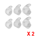 Jabra 2 Sets of C120 C150 Small, Medium, Large Ear Gels (Clear, 12-Pack)